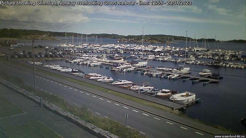 Webcam Grimstad, Grimstad, Aust-Agder, Norwegen